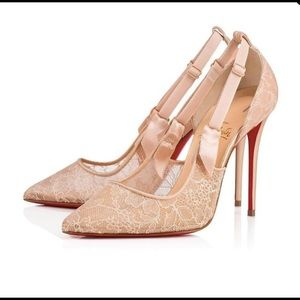 Christian louboutin Nude Hot Jeanbi 100 Pump.